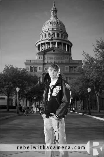 Blake's senior pictures at the texas state capital in austin