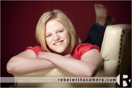 Melissa's senior portraits at Rebel With A Camera studio in Austin, Texas,