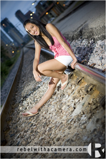 Celeste's senior portraits at the Texas State Capitol and at the Amtrak Station in Austin, TX and at Rebel With a Camera studio in North Austin