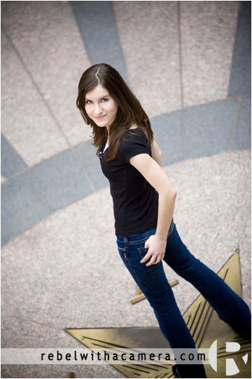 Cool and fun senior portraits in Austin, Texas at the Texas Capital.