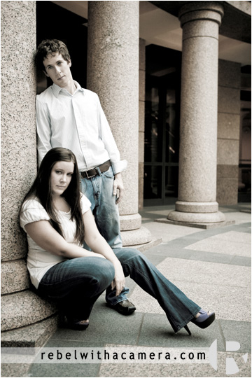 Great engagement photos in downtown austin of Kyle and Lyndsay.  Austin engagement pictures in fabulous locations