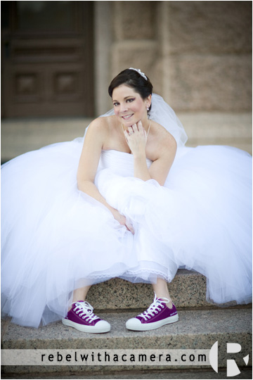 Carrie's bridal portraits at the Texas State Capital in Austin.  Pictures of bride with keds shoes on during austin bridal portrait session at the Capital of Texas.