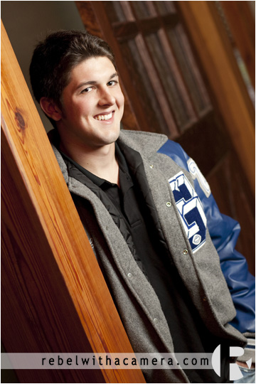 Great senior pictures of Logan at his home in Georgetown, TX.  Georgetown High School Lettermen jacket pictures!